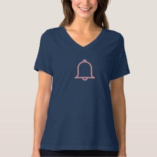 シンプルなピンクのMotificationアイコンワイシャツ Tシャツ