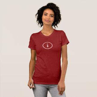 シンプルなピンク情報アイコンワイシャツ Tシャツ