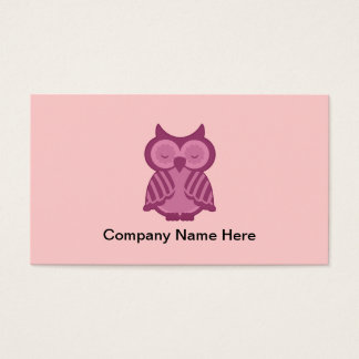 シンプルなフクロウの名刺 名刺