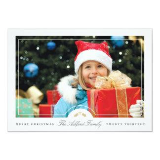 シンプルなフレームの休日の写真カード カード