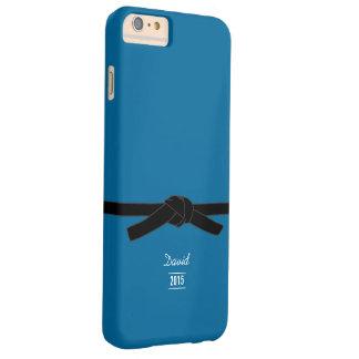 シンプルなブラジルのjiu-jitsuの黒帯の青 barely there iPhone 6 plus ケース