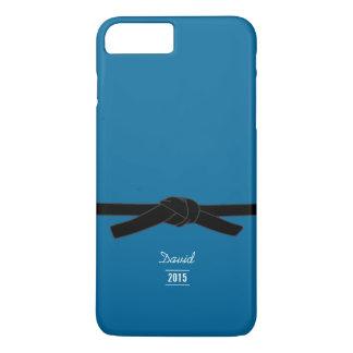 シンプルなブラジルのjiu-jitsuの黒帯の青 iPhone 8 plus/7 plusケース