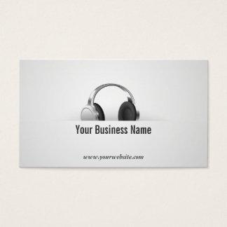 シンプルなヘッドホーンの音楽業界カード 名刺