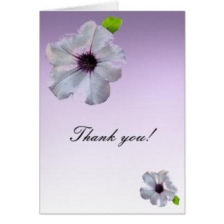 シンプルなペチュニアは感謝していしています カード