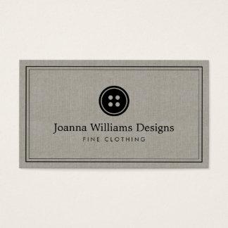 シンプルなボタンのロゴの裁縫婦、テーラー麻布 名刺