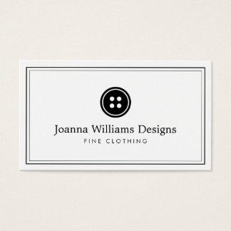 シンプルなボタンのロゴの裁縫婦、テーラー 名刺