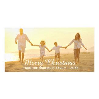 シンプルなメリークリスマス-写真カード カード