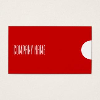 シンプルなモダンおよびプロフェッショナルの名刺-赤 名刺