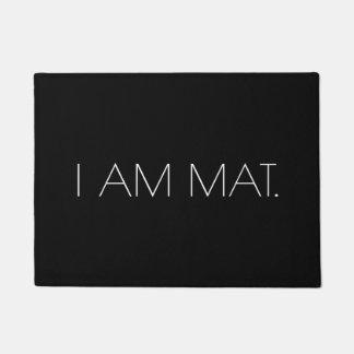 シンプルなユーモアのミニマリスト|私はマットです ドアマット
