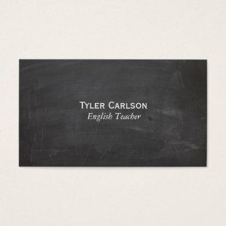 シンプルなライン黒板 名刺