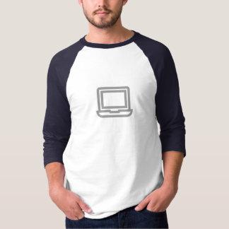 シンプルなラップトップアイコンワイシャツ Tシャツ