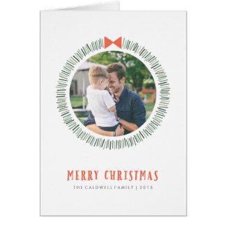 シンプルなリースの休日の挨拶状 カード