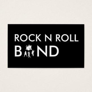 シンプルなロック・バンドの名刺 名刺