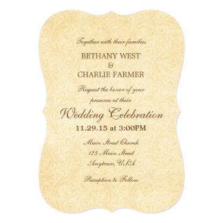 シンプルなヴィンテージ旧式なブラケットの結婚式招待状 12.7 X 17.8 インビテーションカード