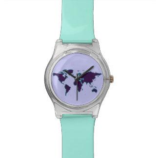 シンプルな世界地図のslhouette 腕時計