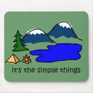 シンプルな事-キャンプします マウスパッド