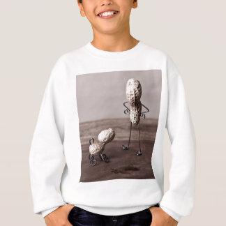 シンプルな事-人および犬 スウェットシャツ