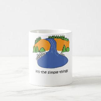 シンプルな事-滝 コーヒーマグカップ