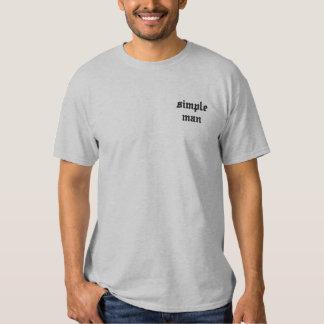 シンプルな人 刺繍入りTシャツ
