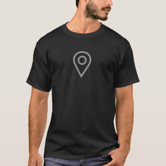 シンプルな位置Pinアイコンワイシャツ Tシャツ