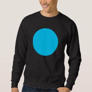 シンプルな円-スカイブルー スウェットシャツ