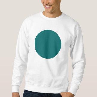 シンプルな円-モスグリーン スウェットシャツ