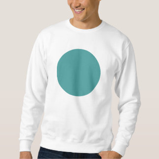シンプルな円-海の緑 スウェットシャツ