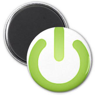シンプルな力ボタン マグネット