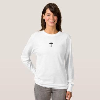 シンプルな十字(黒) Tシャツ