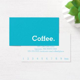 シンプルな単語の明るいロイヤリティのコーヒーパンチカード 名刺