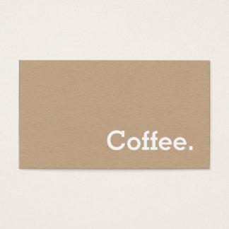 シンプルな単語の最低のロイヤリティのコーヒーパンチカードの技術 名刺