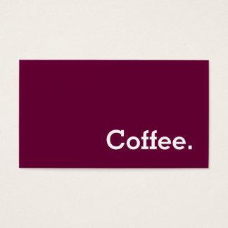 シンプルな単語ワイン色のロイヤリティのコーヒー穿孔器 名刺