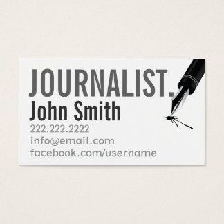シンプルな印刷のジャーナリストの名刺 名刺