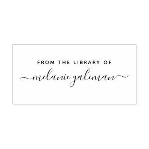 シンプルな原稿の名前の図書館から ラバースタンプ