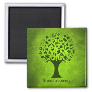 シンプルな喜びの木 マグネット