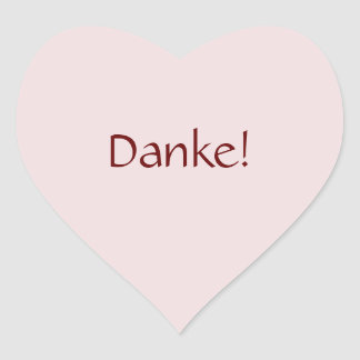 """シンプルな基本的な""""Danke!"""" 文字デザイン ハートシール"""