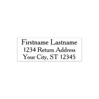 シンプルな姓および差出人住所 セルフインキングスタンプ