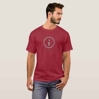 シンプルな情報アイコンワイシャツ Tシャツ