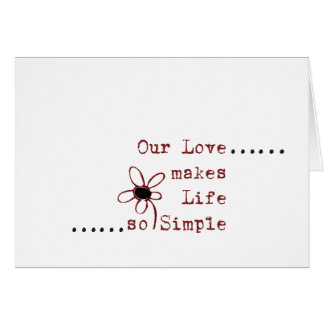 シンプルな愛ノート グリーティングカード