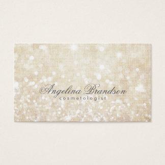シンプルな揺らめくクリーム色の美容師カード 名刺