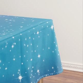 シンプルな星か青い勾配の背景Tablecloth1 テーブルクロス