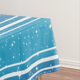 シンプルな星か青い勾配の背景Tablecloth2 テーブルクロス