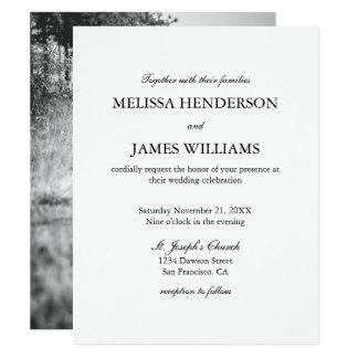 シンプルな最小主義の写真の結婚式招待状 10.8 X 14 インビテーションカード