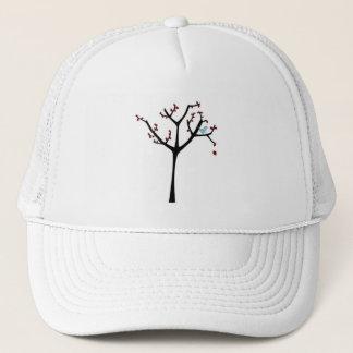シンプルな木および鳥の帽子 キャップ