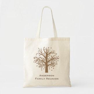シンプルな木の家族会 トートバッグ