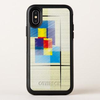シンプルな正方形および長方形の幾何学的なパターン(の模様が)ある オッターボックスシンメトリー iPhone X ケース