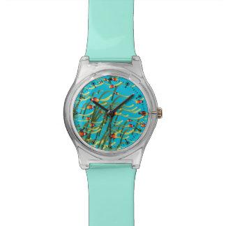 シンプルな水中場面 腕時計