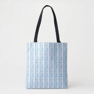 シンプルな淡いブルーの水彩画の記号パターン トートバッグ
