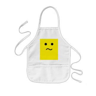 シンプルな混同したMehの黄色の顔 子供用エプロン