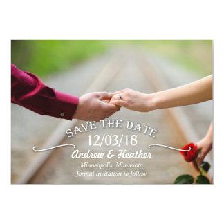 シンプルな渦巻の結婚式の保存日付 12.7 X 17.8 インビテーションカード